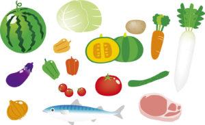 生鮮食品のイラスト