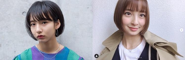 山之内すずと篠田麻里子の似てる画像