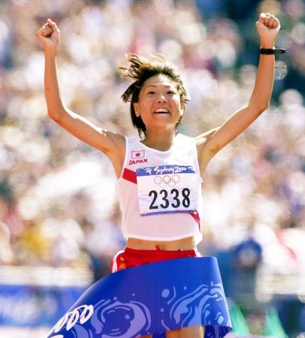 高橋尚子さんがシドニーオリンピックで金メダル獲った時の写真