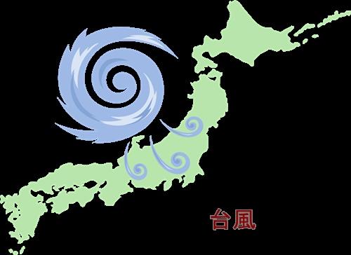 台風が日本列島に接近