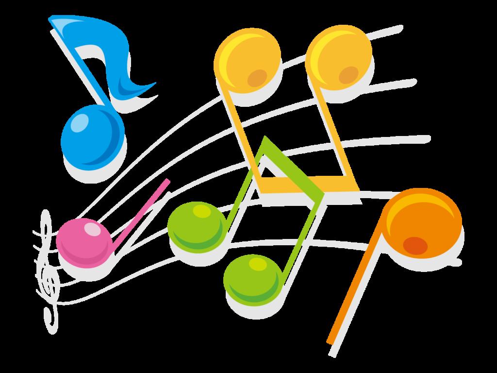 ピアノの音符のイラスト