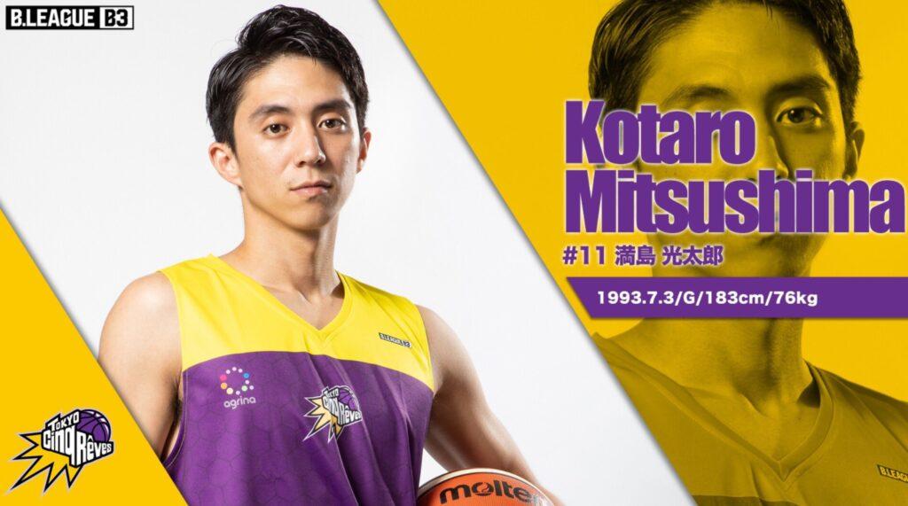 満島光太郎さんの所属しているBリーグの公式プロフィールの写真