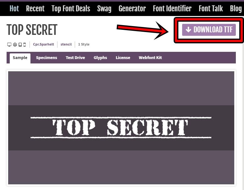 TOP SECRETをダウンロードできるサイトでDL出来る場所を示したもの
