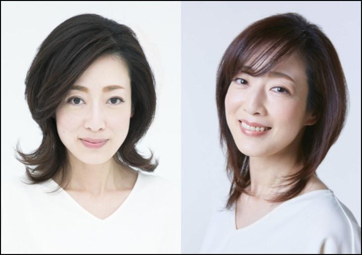 片岡京子のプロフィール画像を2枚並べたもの